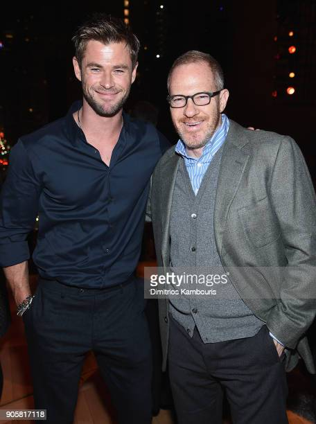 Chris Hemsworth and Toby Emmerich attend The '12 Strong' World Premiere after party on January 16 2018 in New York City