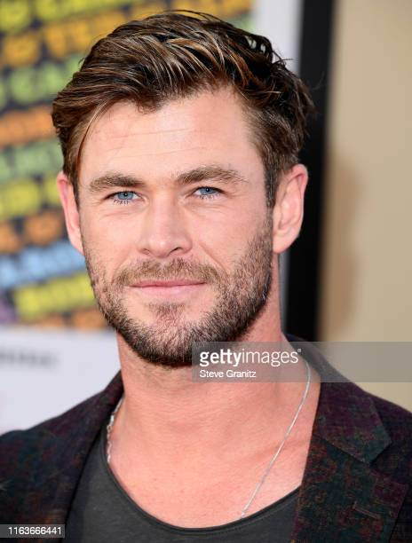 Chris Hemsworth arrives at the Sony Pictures' Once Upon A TimeIn Hollywood Los Angeles Premiere on July 22 2019 in Hollywood California