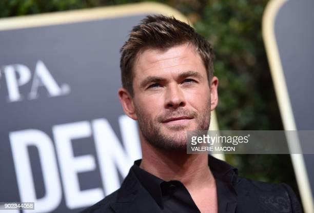 Chris Hemsworth arrives for the 75th Golden Globe Awards on January 7 in Beverly Hills California / AFP PHOTO / VALERIE MACON