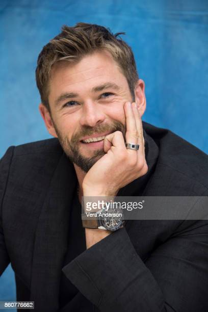 Chris Hemsworth at the Thor Ragnarok Press Conference at the Montage Hotel on October 11 2017 in Beverly Hills California