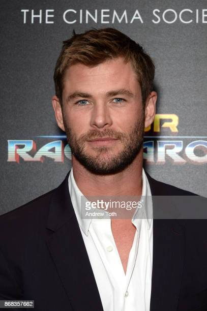 Chris Hemsworth attends a screening of Marvel Studios' 'Thor Ragnarok' at the Whitby Hotel on October 30 2017 in New York City