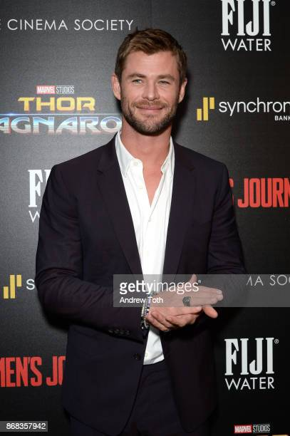 Chris Hemsworth attends a screening of Marvel Studios' Thor Ragnarok at the Whitby Hotel on October 30 2017 in New York City