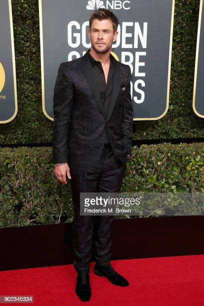 Chris Hemsworth attends The 75th Annual Golden Globe Awards at The Beverly Hilton Hotel on January 7 2018 in Beverly Hills California