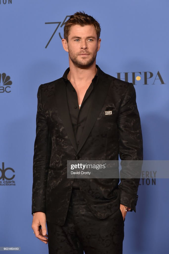 Chris Hemsworth attends the 75th Annual Golden Globe Awards - Press Room at The Beverly Hilton Hotel on January 7, 2018 in Beverly Hills, California.
