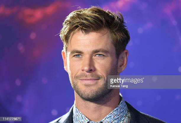 "Chris Hemsworth attends the ""Avengers Endgame"" UK Fan Event at Picturehouse Central on April 10, 2019 in London, England."