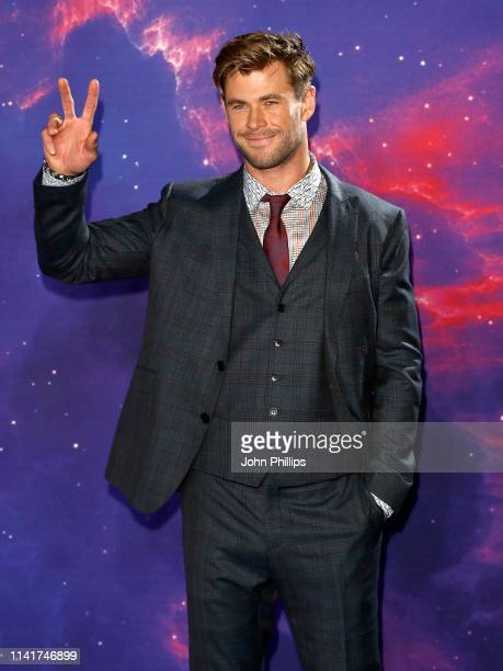 Chris Hemsworth attends the Avengers Endgame UK Fan Event at the Picturehouse Central on April 10 2019 in London England