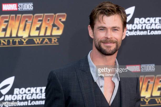 """Chris Hemsworth attends the """"Avengers: Infinity War"""" World Premiere on April 23, 2018 in Los Angeles, California."""