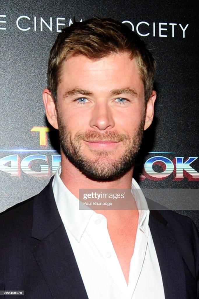 "The Cinema Society with FIJI Water, Men's Journal, and Synchrony host a screening of Marvel Studios' ""Thor: Ragnarok"" : News Photo"