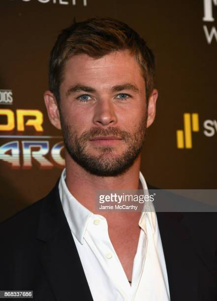 Chris Hemsworth attends The Cinema Society's Screening Of Marvel Studios' 'Thor Ragnarok' at the Whitby Hotel on October 30 2017 in New York City