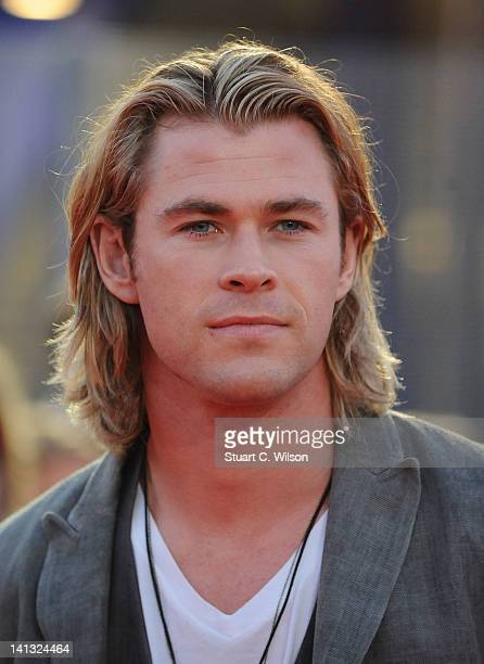 Chris Hemsworth attends the European premiere of The Hunger Games at O2 Arena on March 14 2012 in London England