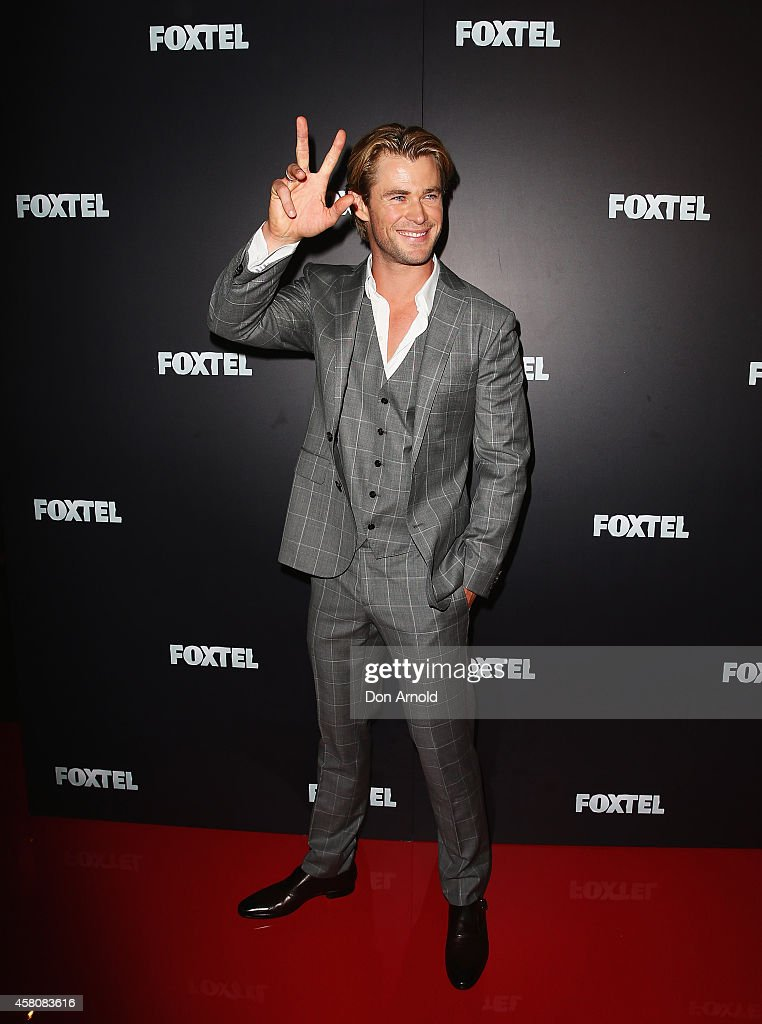 Chris Hemsworth attends the Foxtel season launch at Sydney Theatre on October 30, 2014 in Sydney, Australia.