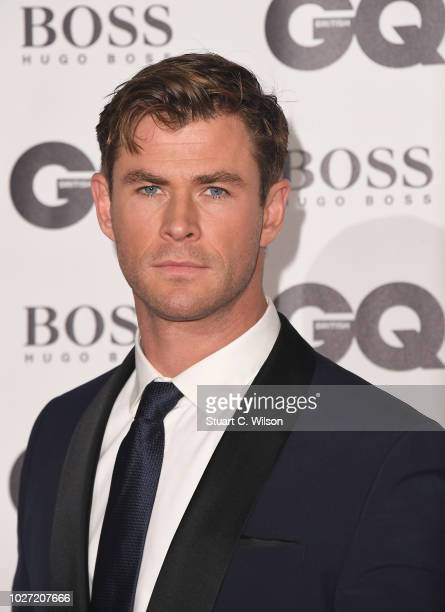 Chris Hemsworth attends the GQ Men of the Year awards at the Tate Modern on September 5 2018 in London England