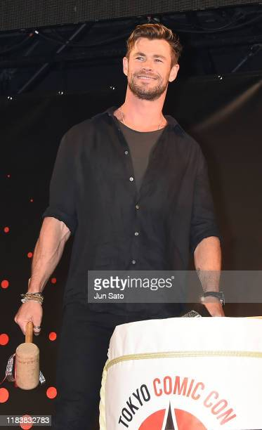 Chris Hemsworth attends the opening ceremony at the Tokyo Comic Con 2019 at Makuhari Messe on November 22 2019 in Chiba Japan