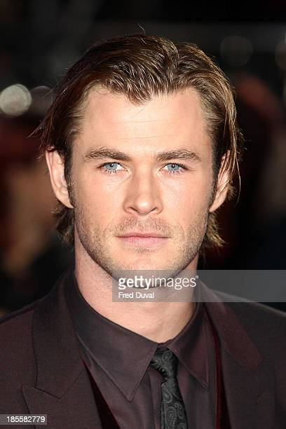 Chris Hemsworth attends the premiere of Thor The Dark World at Odeon Leicester Square on October 22 2013 in London England