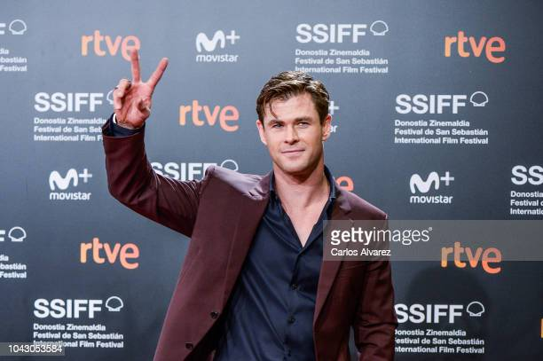 Chris Hemsworth attends the red carpet of the closure gala during 66th San Sebastian Film Festival at Kursaal on September 29 2018 in San Sebastian...