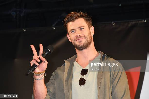 Chris Hemsworth attends the talk event during the Tokyo Comic Con 2019 at Makuhari Messe on November 23, 2019 in Chiba, Japan.
