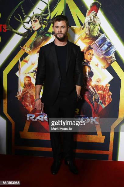 Chris Hemsworth attends the Thor Ragnarok Sydney Screening Event on October 15 2017 in Sydney Australia