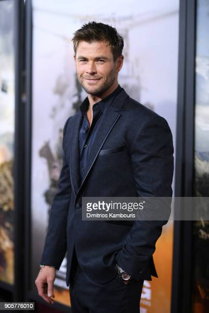 Chris Hemsworth attends the world premiere of 12 Strong at Jazz at Lincoln Center on January 16 2018 in New York City