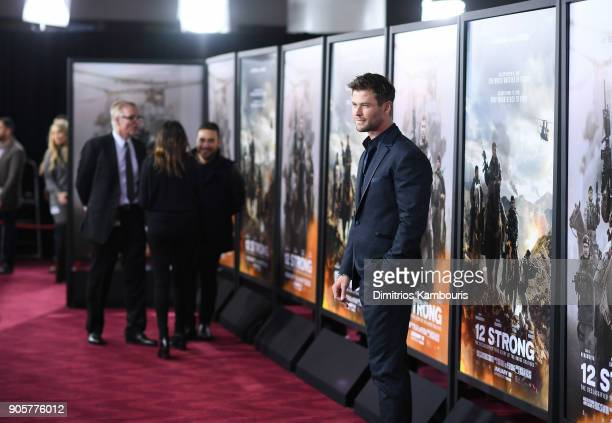 Chris Hemsworth attends the world premiere of '12 Strong' at Jazz at Lincoln Center on January 16 2018 in New York City
