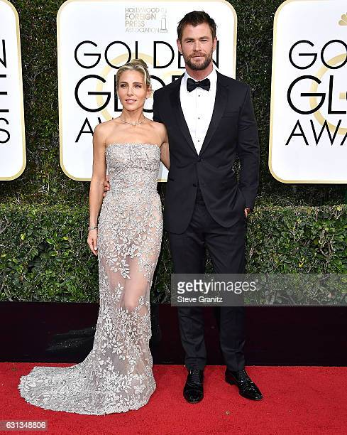 Chris Hemsworth Elsa Pataky arrives at the 74th Annual Golden Globe Awards at The Beverly Hilton Hotel on January 8 2017 in Beverly Hills California