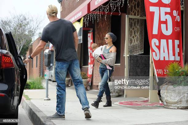 Chris Hemsworth, his wife, Elsa Pataky and thier daughter India Rose Hemsworth are seen on March 16, 2013 in Los Angeles, California.