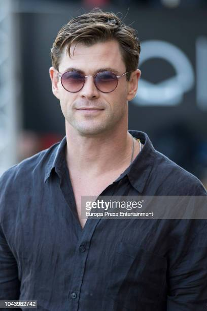Chris Hemsworth is seen arriving at Maria Cristina Hotel during 66th San Sebastian Film Festival on September 29 2018 in San Sebastian Spain