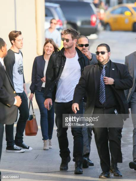 Chris Hemsworth is seen at 'Jimmy Kimmel Live' on January 10 2018 in Los Angeles California