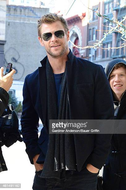 Chris Hemsworth is seen in New York City on January 13 2015 in New York City