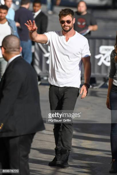 Chris Hemsworth is seen on October 10 2017 in Los Angeles California
