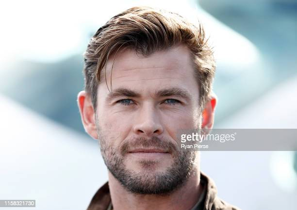 Chris Hemsworth poses during the TAG Heuer Autavia Collection launch on June 26, 2019 in Sydney, Australia.