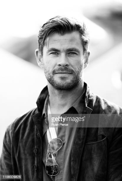 Chris Hemsworth poses during the TAG Heuer Autavia Collection launch on June 26 2019 in Sydney Australia