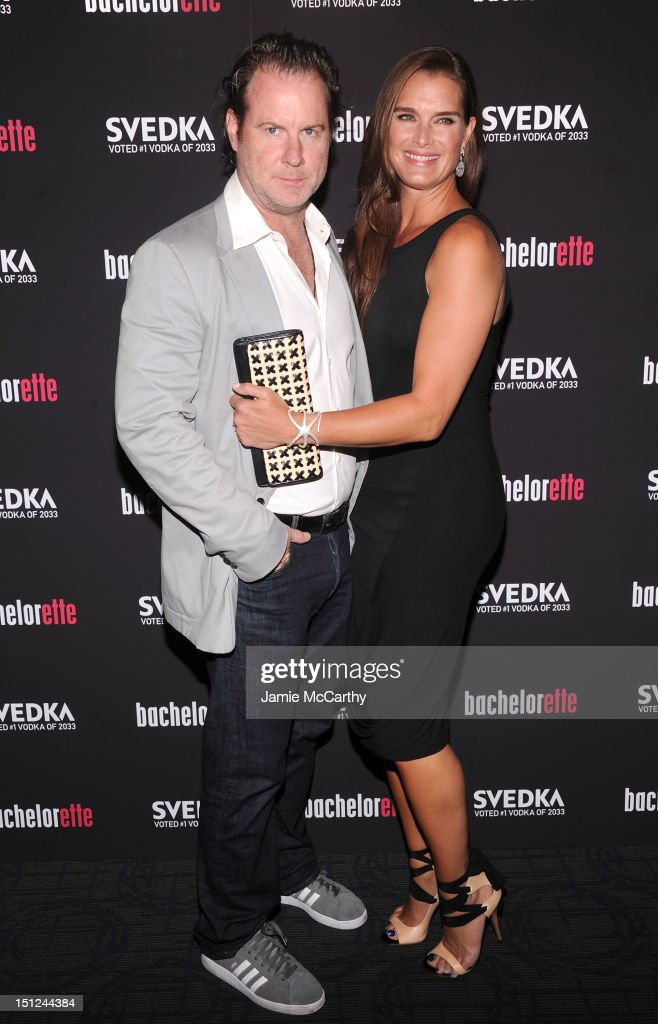 Chris Henchy and actress Brooke Shields attend the 'Bachelorette' New York Premiere at Landmark's Sunshine Cinema on September 4, 2012 in New York City.