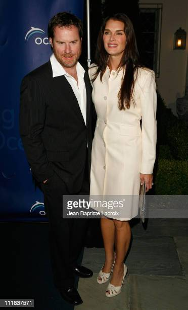 Chris Henchy and Brooke Shields arrive at the Annual Oceana Partner's Awards Gala held at the home of Jena & Michael King on October 5, 2007 in...