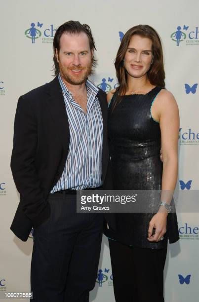 Chris Henchy and Brooke Shields during Ford Escape Hybrid at CHEC's Healthy Earth Healthy Child at Private Residence in Pacific Palisades California...