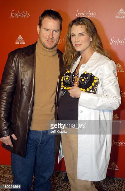c67f40fe9f0d Chris Henchy and Brooke Shields during Frederick s of Hollywood Debuts Fall  2003 Collection at Smashbox Studios
