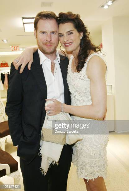 Chris Henchy and Brooke Shields during Jennifer Garner Hosts Oscar De La Renta Boutique Opening Benefiting EIF Women's Cancer Research Fund Inside at...