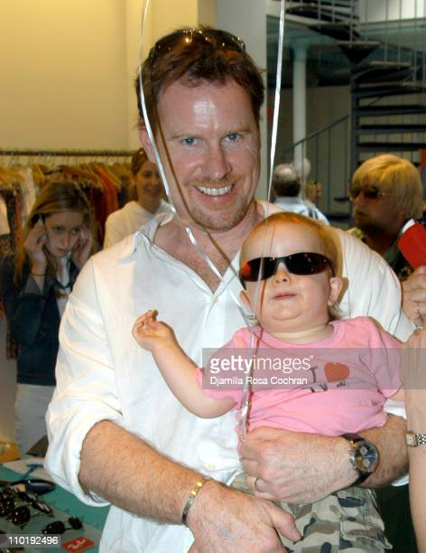 Chris Henchy and daughter Rowan Francis during RAY BAN at the 11th Annual Kids for Kids Celebrity Carnival to Benefit the Elizabeth Glaser Pediatric...