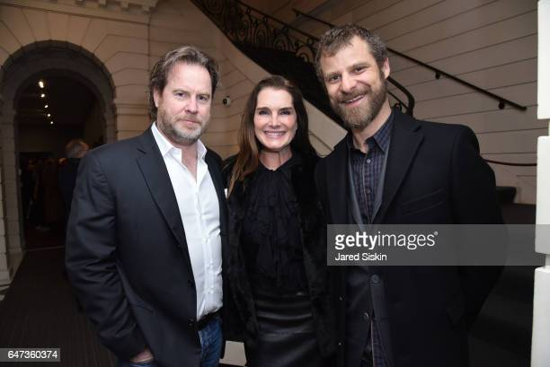 Chris Henchy Brooke Shields and Matt Stone attend Damian Loeb Sgr A* at Acquavella Galleries on March 2 2017 in New York City