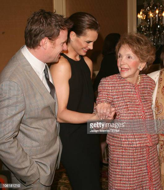 Chris Henchy, Brooke Shields and Nancy Reagan during Saks Fifth Avenue and ColleaguesI Annual Spring Luncheon - Arrivals at Beverly Wilshire Hotel in...