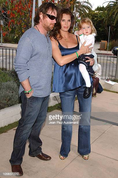 Chris Henchy, Brooke Shields and Rowan Henchy during The John Varvatos 4th Annual Stuart House Charity Benefit - Arrivals at John Varvatos Boutique...