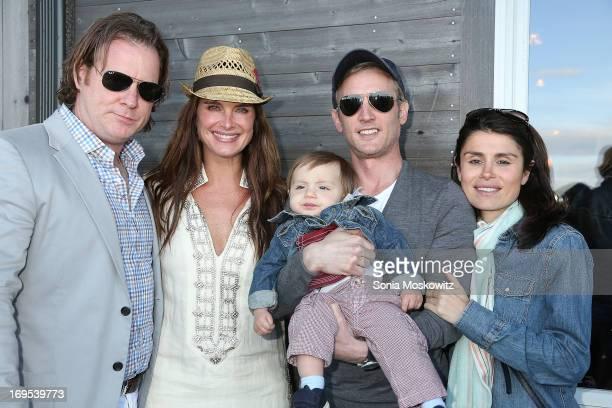 Chris Henchy Brooke Shields Dan Abrams and Florinka Pesenti attend Haley Jason Binn's Annual DuJour Summer Kick Off Soiree with The Borgata Hotel...