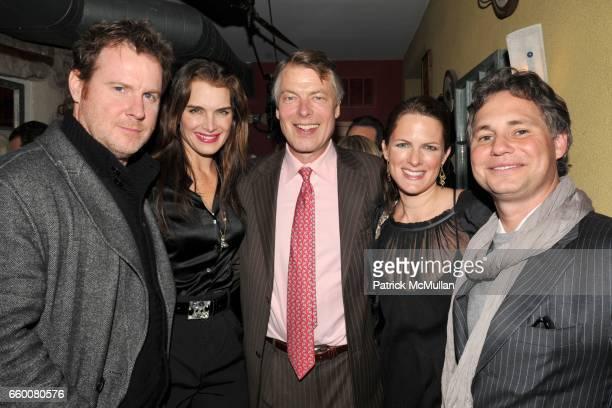 Chris Henchy Brooke Shields Richard Johnson Sessa von Richthofen and Jason Binn attend Birthday Bash for RICHARD JOHNSON and JASON BINN at Da Silvano...