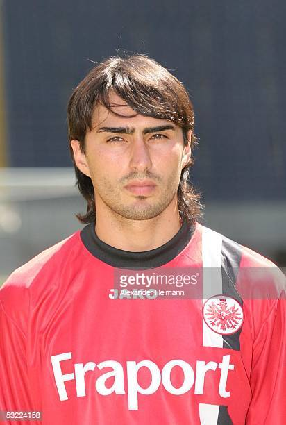 Chris Hening poses during the team presentation of Eintracht Frankfurt for the Bundesliga season 2005 2006 on July 11 2005 in Frankfurt Germany