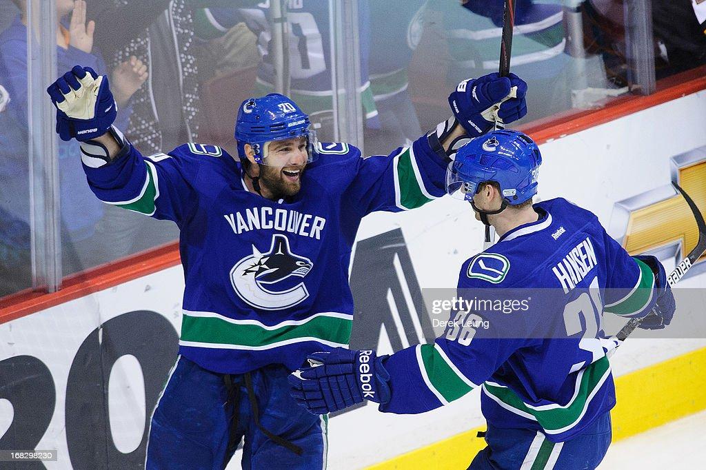 San Jose Sharks v Vancouver Canucks - Game Two : News Photo