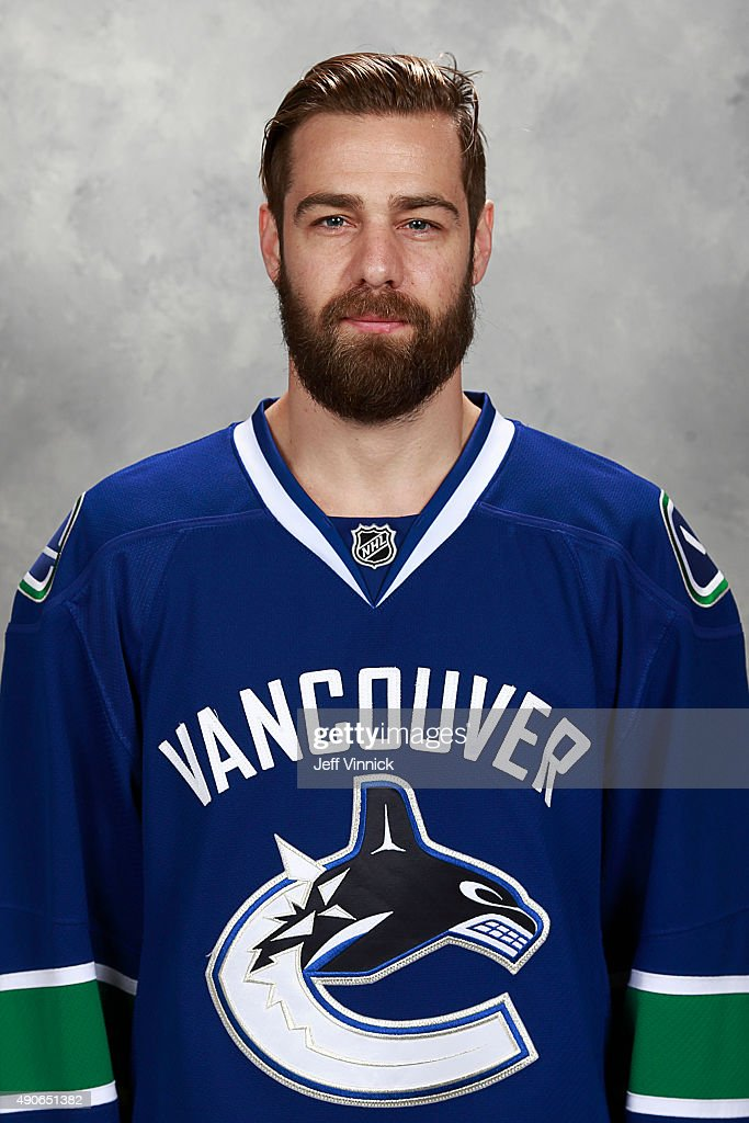Chris Higgins #20 of the Vancouver Canucks poses for his official headshot for the 2015-2016 season on September 17, 2015 at Rogers Arena in Vancouver, British Columbia, Canada.