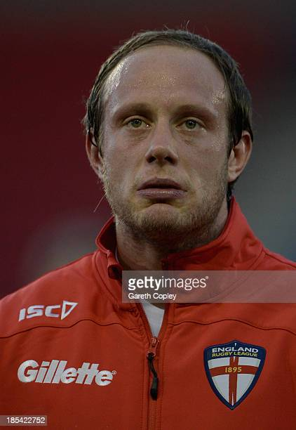 Chris Hill of England ahead of the International match between England and Italy at Salford City Stadium on October 19 2013 in Salford England