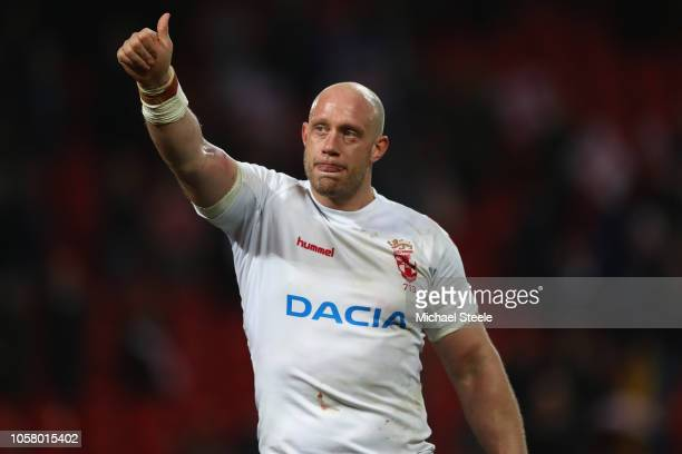 Chris Hill of England during the 2nd International Series match between England and New Zealand at Anfield on November 4 2018 in Liverpool England