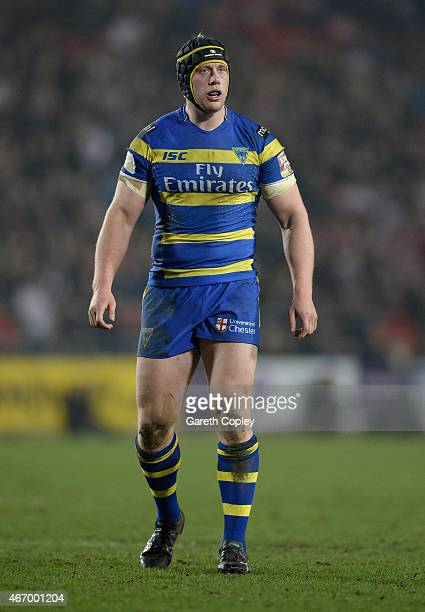Chris Hill of Warrington Wolves during the First Utility Super League match between St Helens and Warrington Wolves at Langtree Park on March 19 2015...