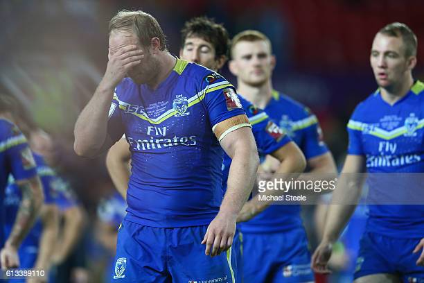 Chris Hill the captain of Warrington looks dejected after his sides 612 defeat during the First Utility Super League Final between Warrington Wolves...