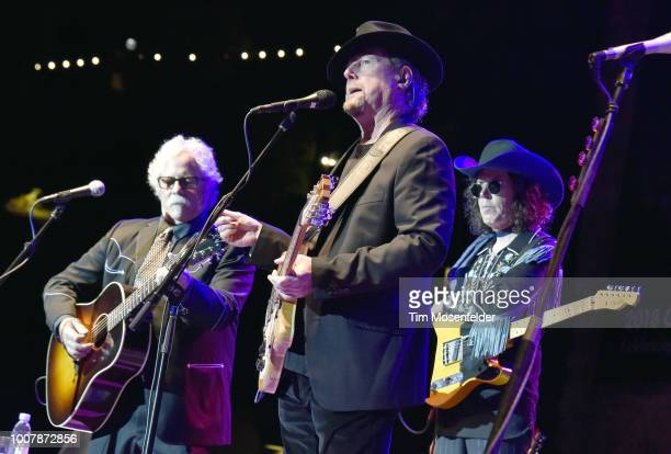 Chris Hillman and Roger McGuinn perform during the Sweetheart of the Rodeo Reunion at The Mountain Winery on July 29 2018 in Saratoga California